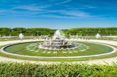 Fontana di Latone in residenza reale Versailles, Francia fotografia stock
