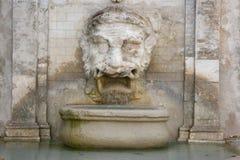 Fontana di Mascherone, Spoleto Immagine Stock