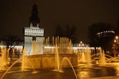 Fontana di Milano Fotografie Stock
