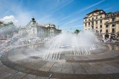 Fontana di Monaco di Baviera Fotografie Stock