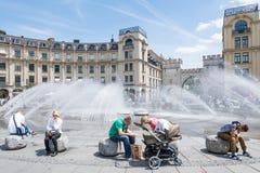 Fontana di Monaco di Baviera Fotografia Stock