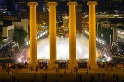 Fontana di Montjuic Immagini Stock