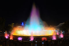 Fontana di Montjuic Fotografia Stock
