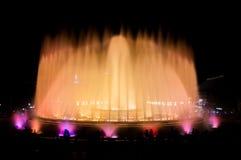 Fontana di Montjuic a Barcellona Immagini Stock