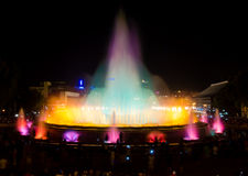 Fontana di Montjuic a Barcellona Fotografia Stock Libera da Diritti