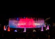 Fontana di Montjuic a Barcellona Immagini Stock Libere da Diritti