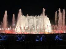 Fontana di Montjuic Majic Immagine Stock Libera da Diritti