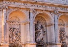Fontana di Mosè a Roma Fotografia Stock Libera da Diritti