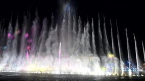 Fontana di musica, fontana di canto stock footage