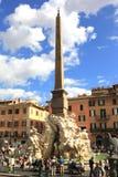 Fontana di Navona della piazza Fotografia Stock Libera da Diritti