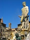 Fontana di Nettuno. At Florence Italy royalty free stock photography