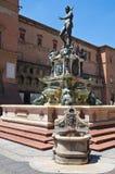 Fontana di Nettuno. Bologna. L'Emilia Romagna. L'Italia. Immagini Stock