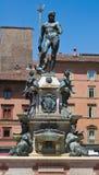 Fontana di Nettuno. Bologna. L'Emilia Romagna. L'Italia. Fotografie Stock Libere da Diritti