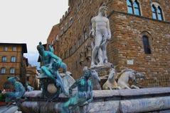 Fontana di Nettuno a Firenze Fotografia Stock