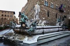Fontana di Nettuno, Firenze, Italia Immagine Stock