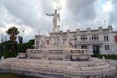 Fontana di Nettuno a Messina fotografia stock libera da diritti