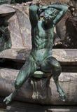 Fontana di Nettuno particolare. Detail from Nettuno's fountain sculpture situated in Piazza della Signoria in Florence Stock Photo