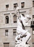 Fontana di Nettuno in Piazza Navona, Rome, Italy Stock Photos
