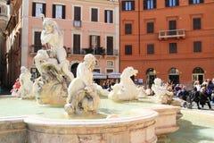 Fontana di Nettuno a Roma Immagine Stock