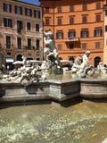 Fontana di Nettuno a Roma Fotografia Stock