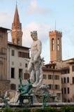 Fontana di Nettuno sul della Signoria della piazza Fotografia Stock Libera da Diritti