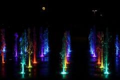 Fontana di notte Immagini Stock