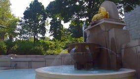 Fontana di oratoria del ` s di Saint Joseph del supporto reale video d archivio
