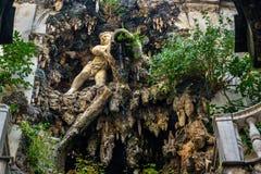 Fontana di Palazzo Nicolosio Lomellino o del palazzo Podesta a Genova L'Italia immagine stock libera da diritti