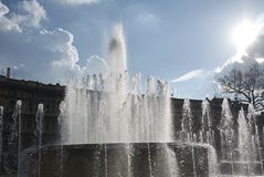Fontana di Praça Castello Fotografia de Stock Royalty Free
