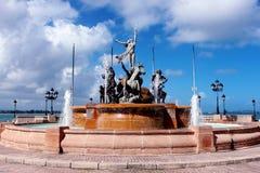 Fontana di RaÃces, vecchio San Juan Fotografie Stock