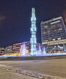 Fontana di Sergel a Stoccolma durante l'inverno HDR Immagine Stock Libera da Diritti