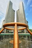 Fontana di Singapore della città di Suntec di ricchezza Fotografie Stock