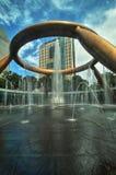Fontana di Singapore della città di Suntec di ricchezza Fotografia Stock Libera da Diritti