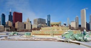 Fontana di Snowy Fotografia Stock Libera da Diritti