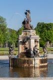 Fontana di Stoccolma Svezia del palazzo di Drottningholm Fotografia Stock Libera da Diritti