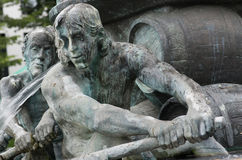 Fontana di storia, Coblenza Fotografia Stock