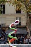 Fontana di Stravinsky a Parigi immagini stock