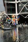 Fontana di Stravinsky a Parigi fotografia stock libera da diritti