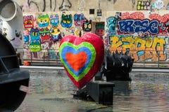 Fontana di Stravinsky a Parigi fotografie stock