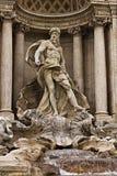 Fontana di Trevi在罗马意大利 库存照片