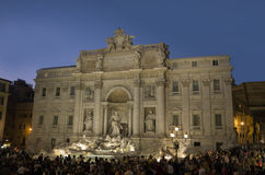 Fontana Di TREVI στην επαναλειτουργία Στοκ Εικόνα