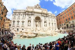 Fontana di Trevi Royaltyfria Foton