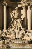 Trevi fountain in Rome. Detail of the Fontana di Trevi in Rome, Italy Stock Image