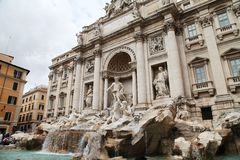 Fontana di Trevi. The Fontana di Trevi in Roma Stock Photo