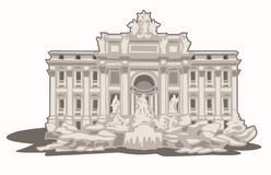 Fontana di Trevi Arkivfoto