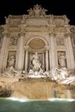 Fontana di Trevi. Historical monument in Rome, captured by night stock images
