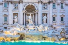 Fontana di Trevi em Itália Fotografia de Stock