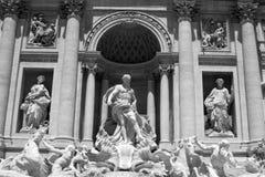 Fontana di Trevi. Trevi fountain in city center of Rome,Italy Stock Photos