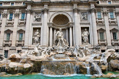 Fontana di Trevi front view. Front photo of the beautiful Trevi Fountain in Rome Royalty Free Stock Photos