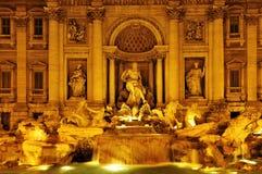 Fontana di Trevi i Rome, Italien Royaltyfria Bilder